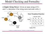 model checking and formality45