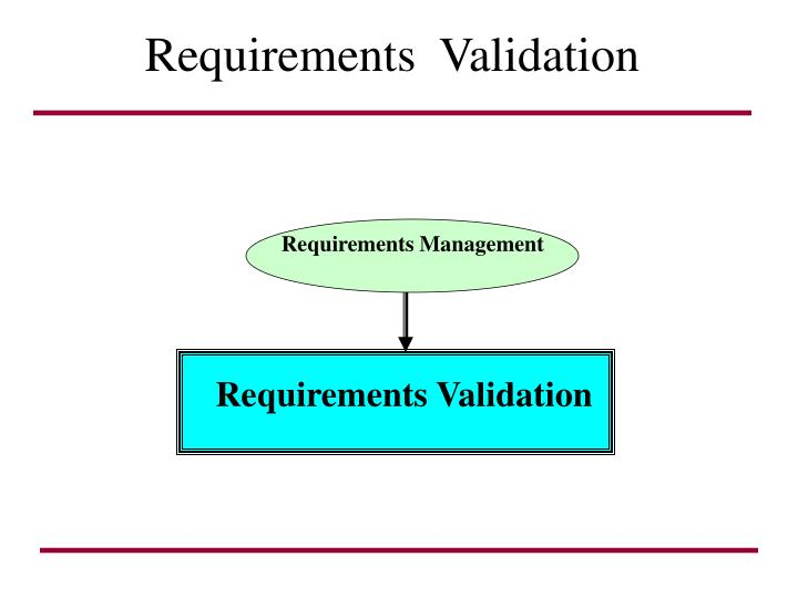 requirements validation n.