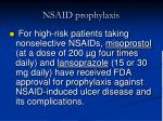 nsaid prophylaxis22