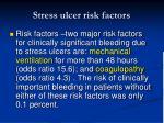 stress ulcer risk factors