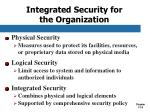 integrated security for the organization