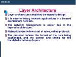 layer architecture