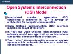 open systems interconnection osi model