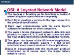 osi a layered network model