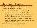 major focus of midterm