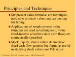 principles and techniques