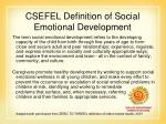csefel definition of social emotional development