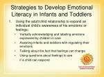 strategies to develop emotional literacy in infants and toddlers
