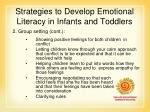 strategies to develop emotional literacy in infants and toddlers35