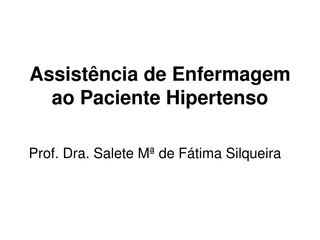 assist ncia de enfermagem ao paciente hipertenso l.