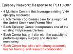 epilepsy network response to pl110 387