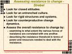 assessing resistance to change strebel