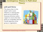 contingency theory 4 path goal theory