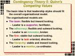 contingency theory 5 quinn s competing values