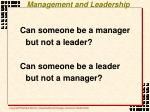 management and leadership6