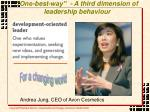 one best way a third dimension of leadership behaviour