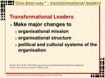 one best way transformational leaders