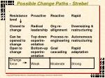possible change paths strebel