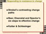 responding to resistance to change