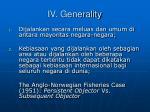 iv generality