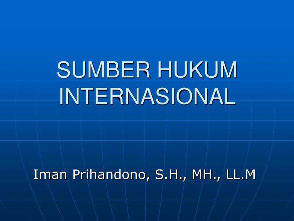sumber hukum internasional l.
