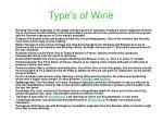 type s of wine