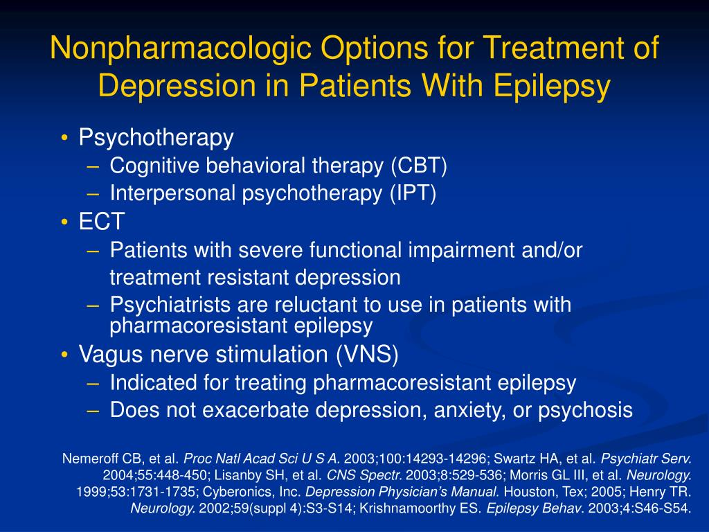 Nonpharmacologic Options for Treatment of Depression in Patients With Epilepsy