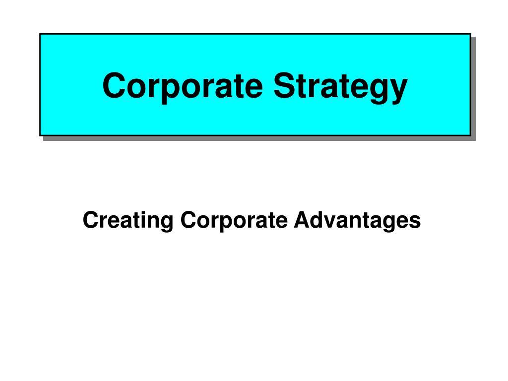 corporate strategy l.