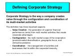 defining corporate strategy