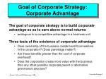goal of corporate strategy corporate advantage