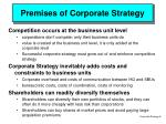premises of corporate strategy