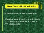 basic rules of electrical action