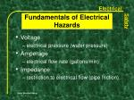 fundamentals of electrical hazards16