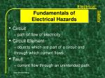 fundamentals of electrical hazards17