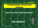 fundamentals of electrical hazards5
