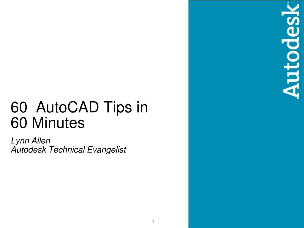 60 autocad tips in 60 minutes l.