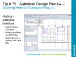 tip 79 autodesk design review drawing version compare feature