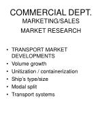 commercial dept marketing sales market research