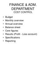 finance adm department cost control45