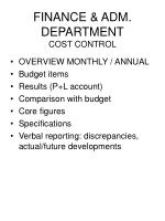 finance adm department cost control46