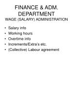 finance adm department wage salary administration