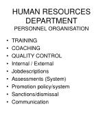 human resources department personnel organisation55