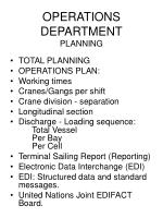 operations department planning98