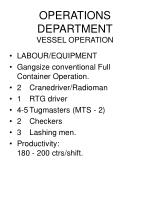 operations department vessel operation105