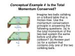 conceptual example 4 is the total momentum conserved