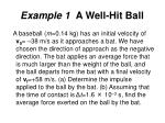 example 1 a well hit ball