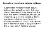example of completely inelastic collision