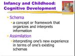 infancy and childhood cognitive development