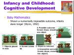 infancy and childhood cognitive development3