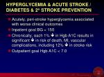 hyperglycemia acute stroke diabetes 2 stroke prevention